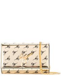 goldene bedruckte Leder Clutch von Giuseppe Zanotti Design