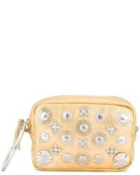 goldene beschlagene Leder Clutch von Toga
