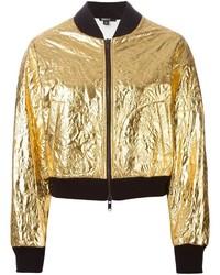goldene Bomberjacke von DKNY