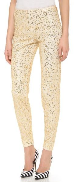 goldene enge Hose aus Paillette von Moschino