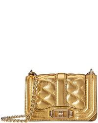 goldene gesteppte Leder Umhängetasche