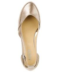 goldene Leder Ballerinas von Heine