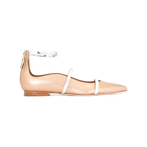 goldene Leder Ballerinas von Malone Souliers