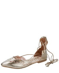 goldene Leder Ballerinas von Xyxyx