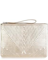 goldene Leder Clutch mit Sternenmuster von Golden Goose Deluxe Brand
