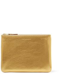 goldene Leder Clutch von Comme des Garcons