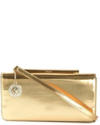 goldene Leder Clutch von DKNY