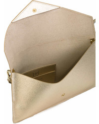 goldene Leder Clutch von Lancaster