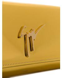 goldene Leder Clutch von Giuseppe Zanotti Design