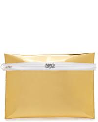 goldene Leder Clutch von Maison Margiela