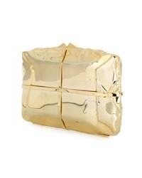 goldene Leder Clutch von Benedetta Bruzziches