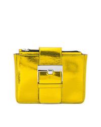 goldene Leder Clutch von Sergio Rossi