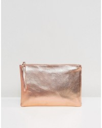 goldene Leder Clutch von South Beach
