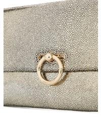 goldene Leder Clutch von Rebecca Minkoff