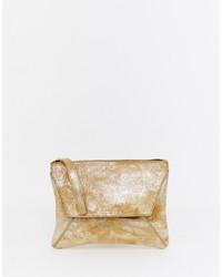 goldene Leder Clutch von Urbancode