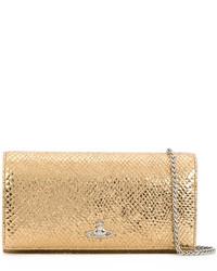 goldene Leder Clutch von Vivienne Westwood