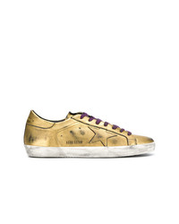 goldene Leder niedrige Sneakers von Golden Goose Deluxe Brand