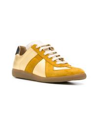 goldene Leder niedrige Sneakers von Maison Margiela