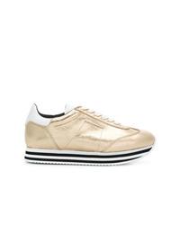 goldene Leder niedrige Sneakers von Rebecca Minkoff