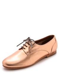 goldene Leder Oxford Schuhe