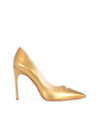 goldene Leder Pumps