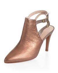 goldene Leder Sandaletten von Alba Moda
