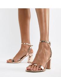 goldene Leder Sandaletten von ASOS DESIGN