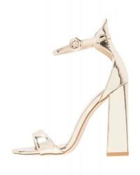 goldene Leder Sandaletten von BEBO