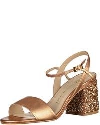 goldene Leder Sandaletten von Bronx