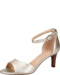 goldene Leder Sandaletten von Clarks