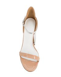goldene Leder Sandaletten von Maison Margiela