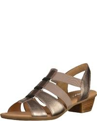 goldene Leder Sandaletten von Gabor