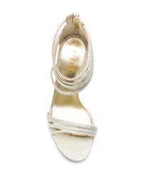 goldene Leder Sandaletten von Le Silla