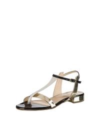 goldene Leder Sandaletten von Högl