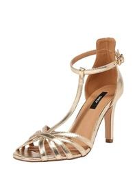 goldene Leder Sandaletten von Only