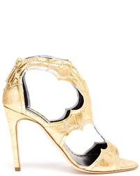 goldene Leder Sandaletten von Rupert Sanderson