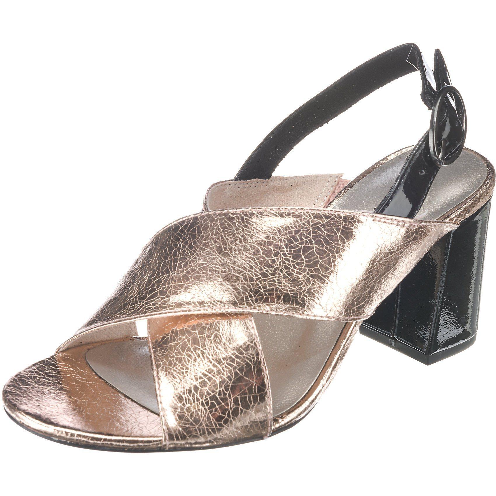 goldene Leder Sandaletten von Tamaris