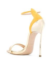 goldene Leder Sandaletten von Casadei