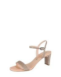 goldene Leder Sandaletten von Unisa