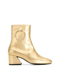 goldene Leder Stiefeletten von Dorateymur
