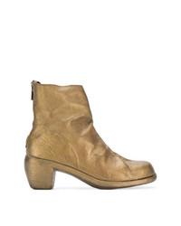 goldene Leder Stiefeletten von Guidi