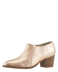 goldene Leder Stiefeletten von Heine