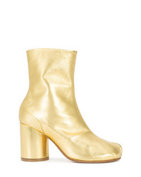 goldene Leder Stiefeletten von Maison Margiela