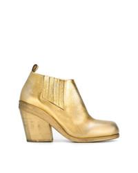 goldene Leder Stiefeletten von Marsèll