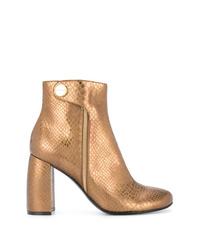 goldene Leder Stiefeletten von Stella McCartney