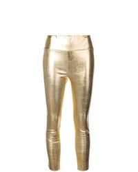 goldene Lederleggings