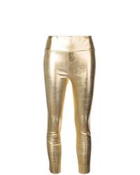 goldene Lederleggings von Sprwmn