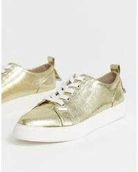goldene niedrige Sneakers von ASOS DESIGN
