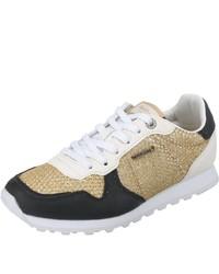 goldene niedrige Sneakers von Pepe Jeans