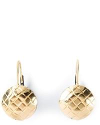 goldene Ohrringe von Bottega Veneta